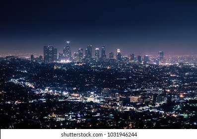 California cityscape at night