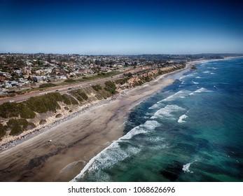 California Coast Highway Beachside Community Scenery