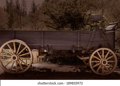 California Columbia carriage in a real old Western Gold Rush Town in USA