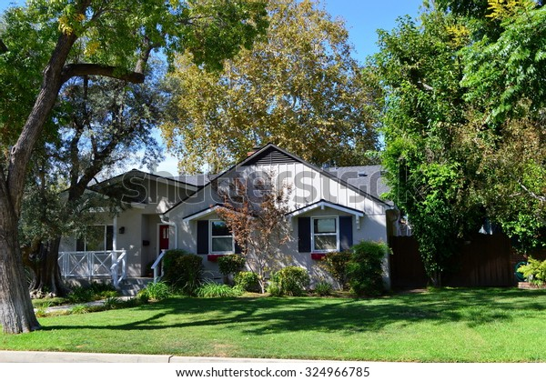 California Dream Houses Estates Sherman Oaks Stock Photo