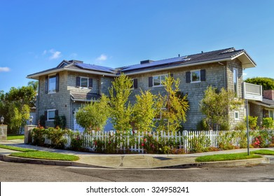 California Dream Houses and estates with a solar panel on the roof. Sherman Oaks, CA,