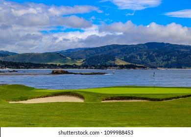 California golf course on Monterey Bay