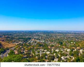 California landscape from above