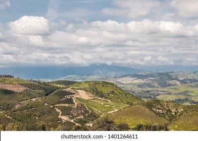 California Landscape - aerial view to the Ventura County farm lands