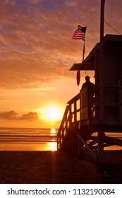 California lifeguard tower
