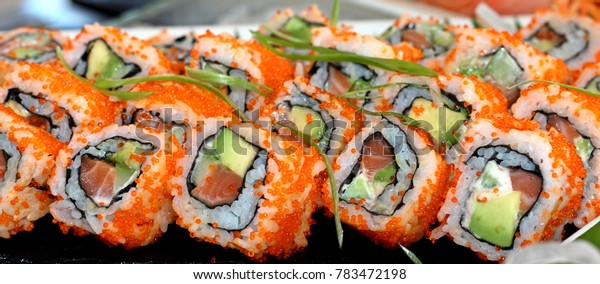 California maki roll, sushi roll