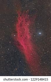 The California Nebula in the constellation Perseus