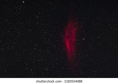 The California Nebula in the constellation Perseus as seen from Mannheim in Germany.