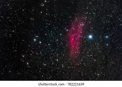 The California Nebula in the constellation Perseus as seen from Stockach in Germany.