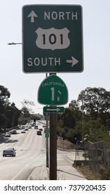 California road signs.