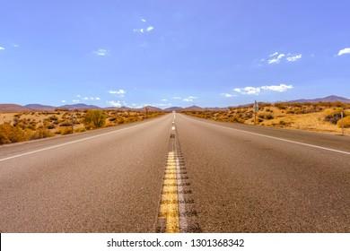 California Road Trip Desert Road Route