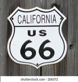 California Route 66 sign