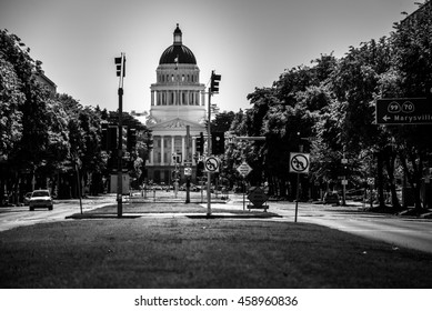 California State Capitol Black and White Photography