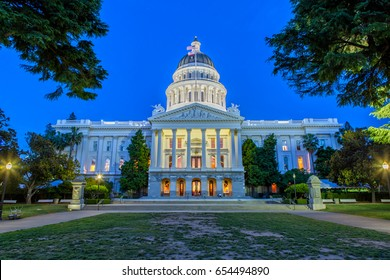 The California State Capitol in Sacramento at Night