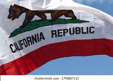 California State Flag.  Representing the State of California Pride