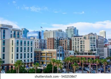 California state, San Diego - Historic district Gaslamp Quarter. USA