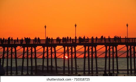 California Sunset over Oceanside Pier