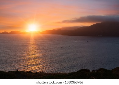 California Sunset over the Pacific Ocean