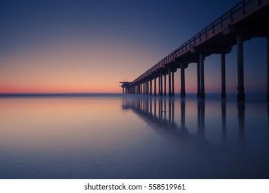 California Sunset over the Pacific Ocean - Scripps Pier