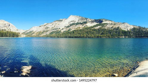 California Tenaya Lake Yosemite Tioga Pass Mountains