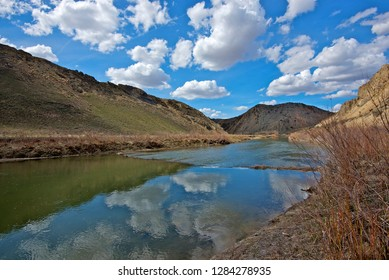 The California Trail had to cross the Humboldt River in several spots, including here at the First Crossing of Carlin Canyon in Nevada.