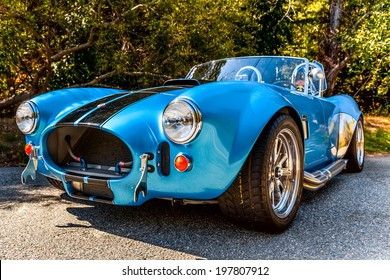 CALIFORNIA - USA - OCT 13, 2013: Shelby Cobra seen on a sunny day on high one on OCT 13, 2013, California, USA.
