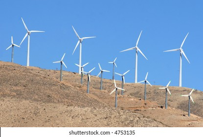 A California windmill farm.