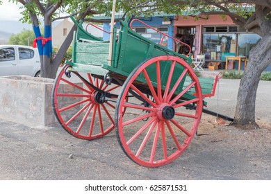 CALITZDORP, SOUTH AFRICA - MARCH 24, 2017: An historic old horse-drawn cart in Calitzdorp, a small town in the Western Cape Province