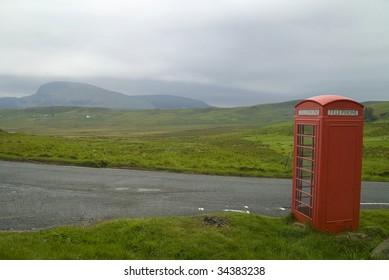 Call box on the Isle of Skye, Scotland
