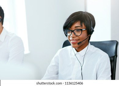Call Center Agent Working On Hotline