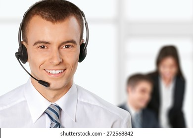 Call Center, Customer Service Representative, Men.