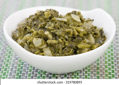Callaloo - Caribbean side dish made with amaranth.