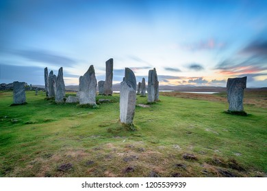 The Callanish stone circle on the Isle of Lewis in Scotland