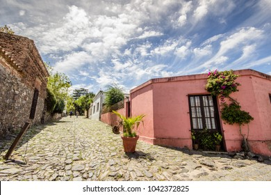 Calle de los Suspiros, the Street of Sighs, in Colonia del Sacramento, Uruguay