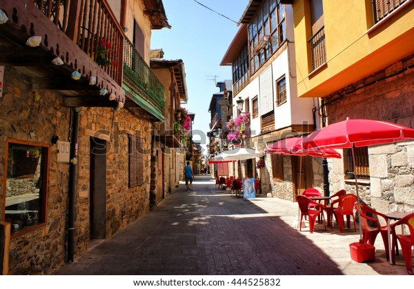 Calle Real, Street in Molinaseca, Leon, Spain