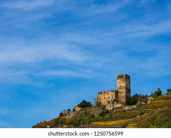"""The so called castle """"Gutenfels"""" in Kaub/Germany"""
