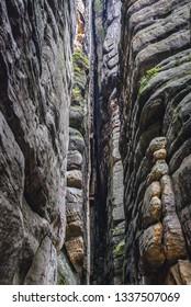 "So called ""Rock chapel"" area of Teplice Rocks, part of Adrspach-Teplice landscape park in Czech Republic"