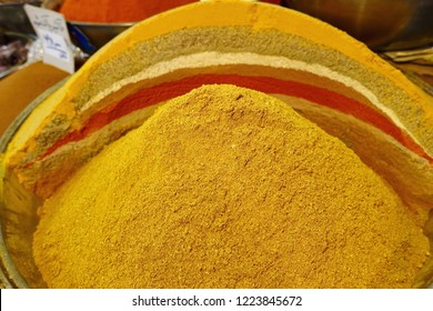 So called Seven Spices. Mixture of different spices in the iranian cuisine. A mixture of ginger, cumin, pepper, cinnamon, cardamon, cucuma and nutmeg