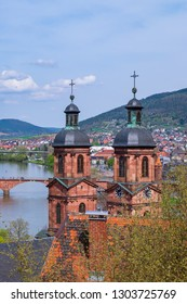 "The so called ""St.-Jakobus-Church"" and the river Main in Miltenberg/Germany"