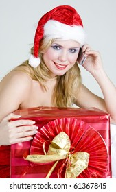 calling Santa Claus with Christmas present