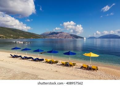 Calm beach in Sami, Kefalonia, Greece