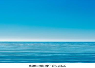 Calm blue sea and sky
