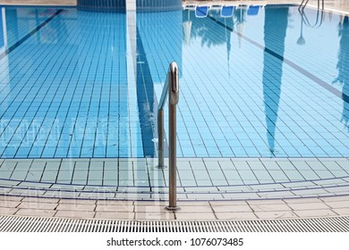 Calm Blue Water in Outdoor Swimming Pool