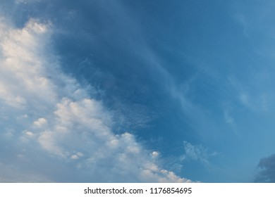 Calm cloud sky scape at dawn