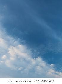 Calm cloud sky scape at dawn