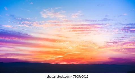 Calm and colorful landscape
