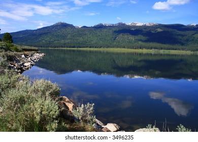 Calm day on Cascade Lake, Valley County Idaho