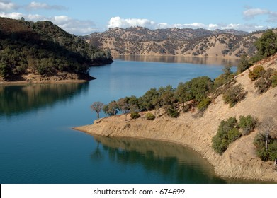A calm day on Lake Berryessa, near Napa, California