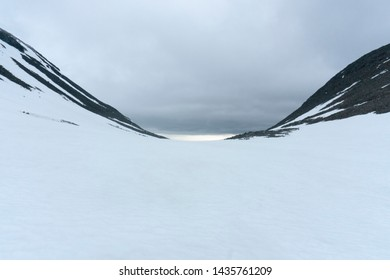 Calm image of a mointain valley near Kebnekaise in Sweden