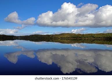 Calm lake in Connemara